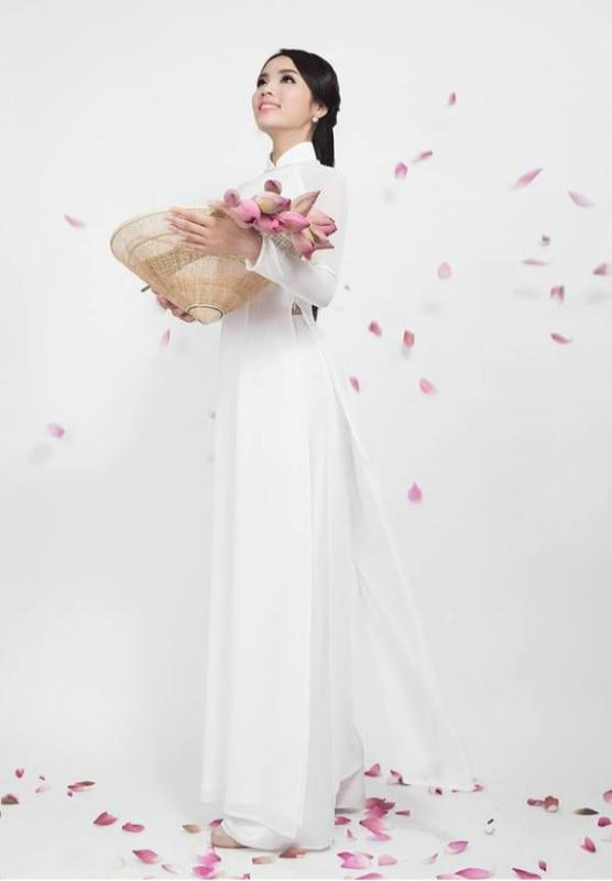 White Ao Dai Vietnam Double Layers 3
