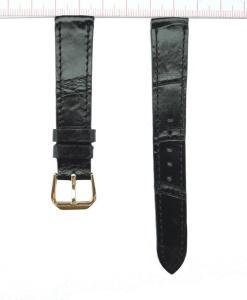 Black Alligator Watch Strap 16mm