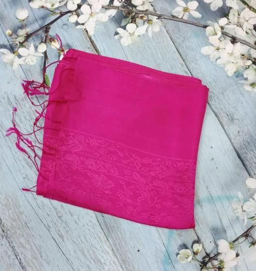 Red Pink Women Scarves Silkworm 2