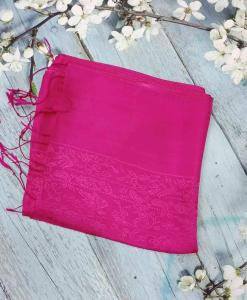 Red Pink Women Scarves Silkworm 2