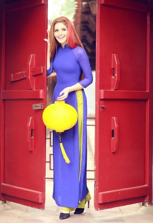 Vietnam Ao Dai Custom Made Royal Blue 2