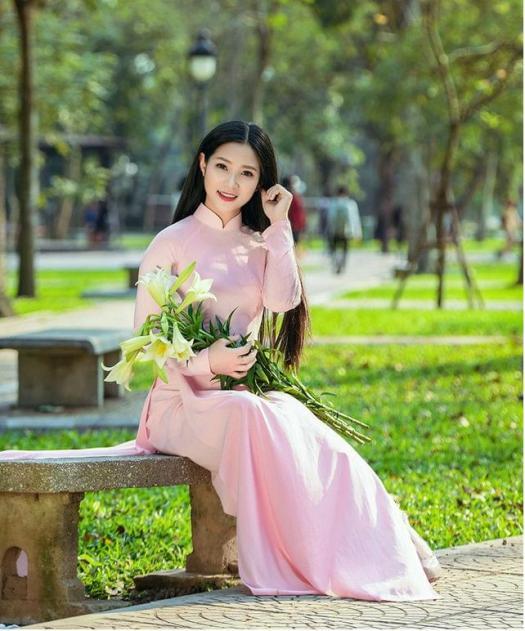 Carnation Pink Chiffon Ao Dai Viet Nam Online Shop