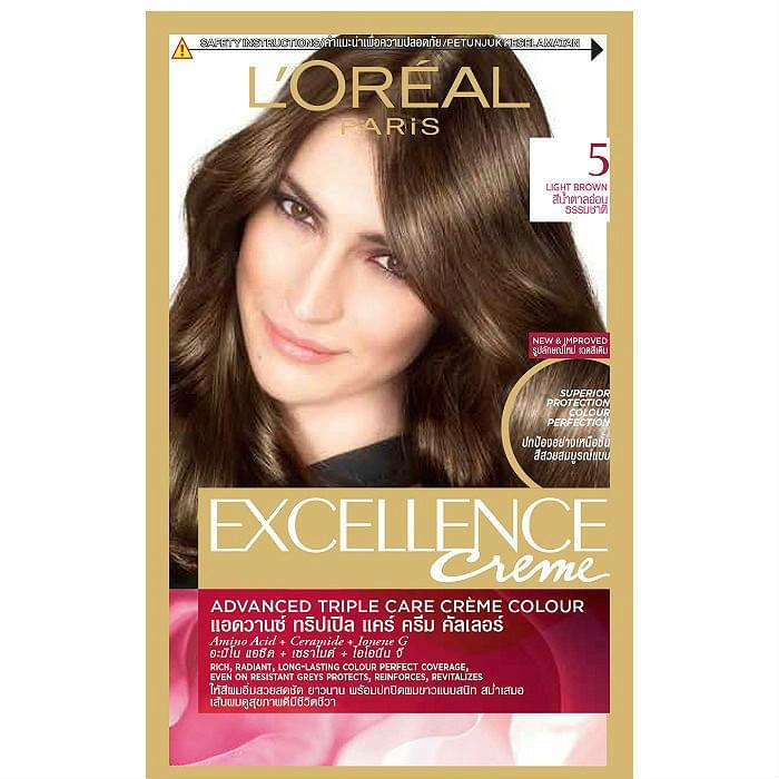 Loreal Paris Excellence Creme Colour Natural Light Brown 172 Ml