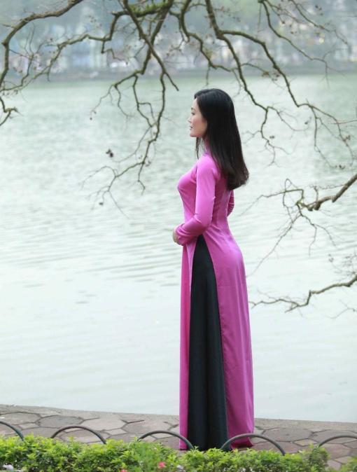Vietnam Ao Dai Classical Pink Silk 2