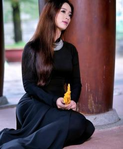 Sell Ao Dai Viet Nam Mysterious Black 2