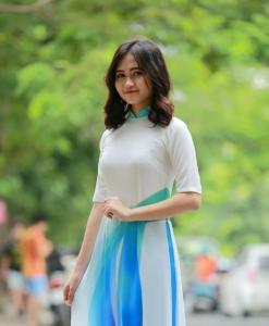 Ao Dai Vietnam Short Sleeves