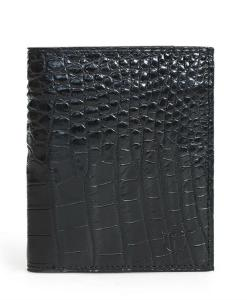 Black Alligator Leg Skin Men's Wallet