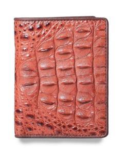 Portefeuille en cuir de crocodile à la mode 1