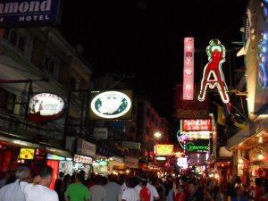 De beroemde Walking Street in Pattaya