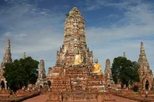 Oude tempels in Ayutthaya