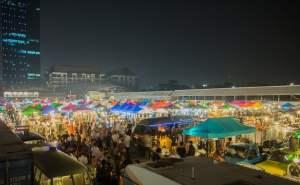 Hippe markten in Bangkok