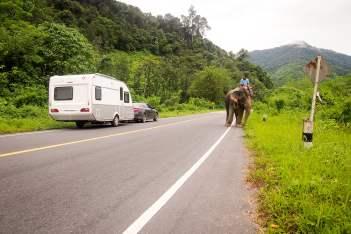 caravan door Thailand