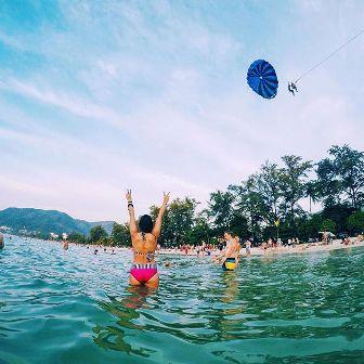 zwemmen in de thaise zee