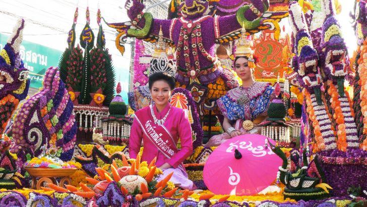 Drie dagen lang: Chiang Mai Bloemenfestival