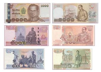 Vals geld in Thailand in omloop