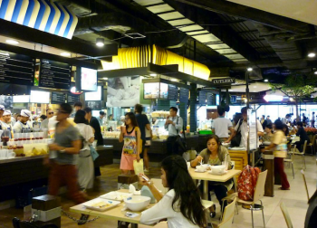 pier 21 food court in terminal 21