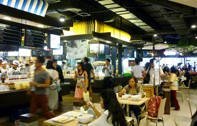 Pier 21 food court in Terminal 21 Bangkok