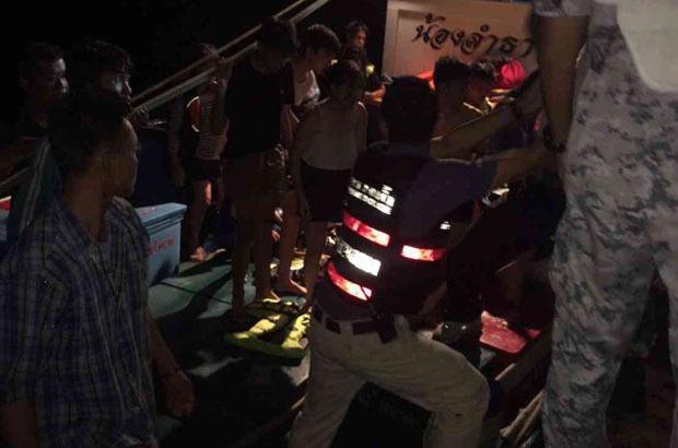 Speedboot gezonken in Trat; niemand gewond