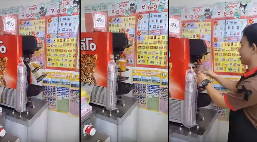 Tapbier bij de 7-Eleven