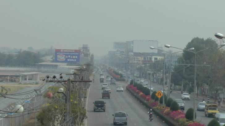 Ernstige smog in Noord-Thailand