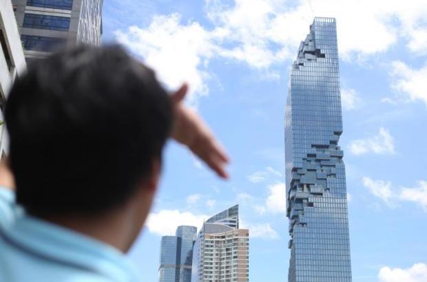 Slapen in het hoogste gebouw van Thailand