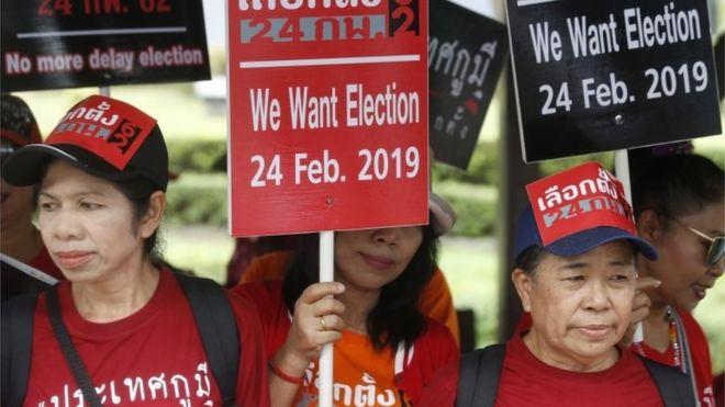 Stress door verkiezingen in Thailand?
