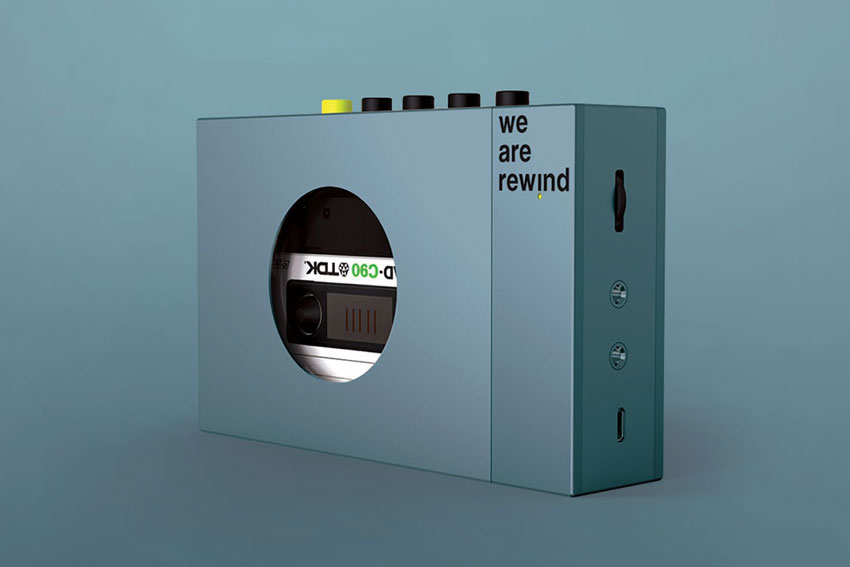 We are rewind Portable Cassette Player 04