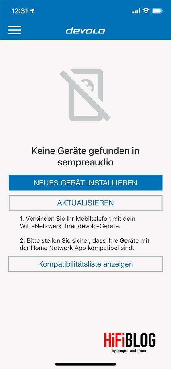 devolo Home Network App Screen 2