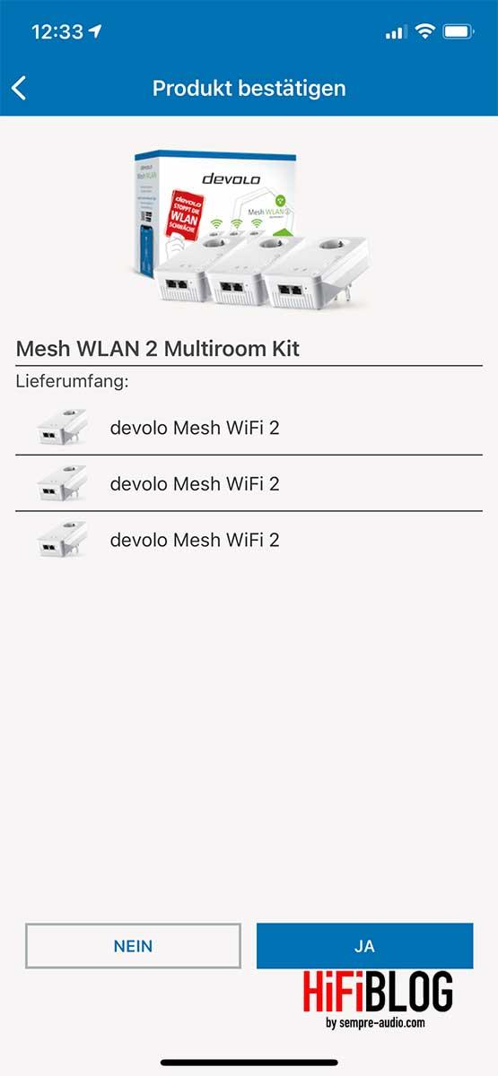 devolo Home Network App Screen 3