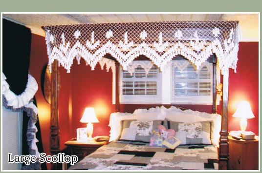 crochet style bedroom canopies