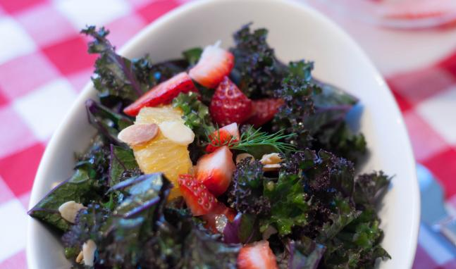 Kale, Strawberry and Orange Salad Recipe   High Country Olive Oil
