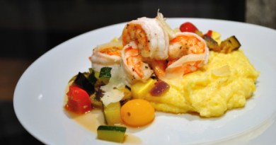 Oven-Roasted Ratatouille with Salt & Pepper Shrimp and Creamy Polenta | High Country Olive Oil