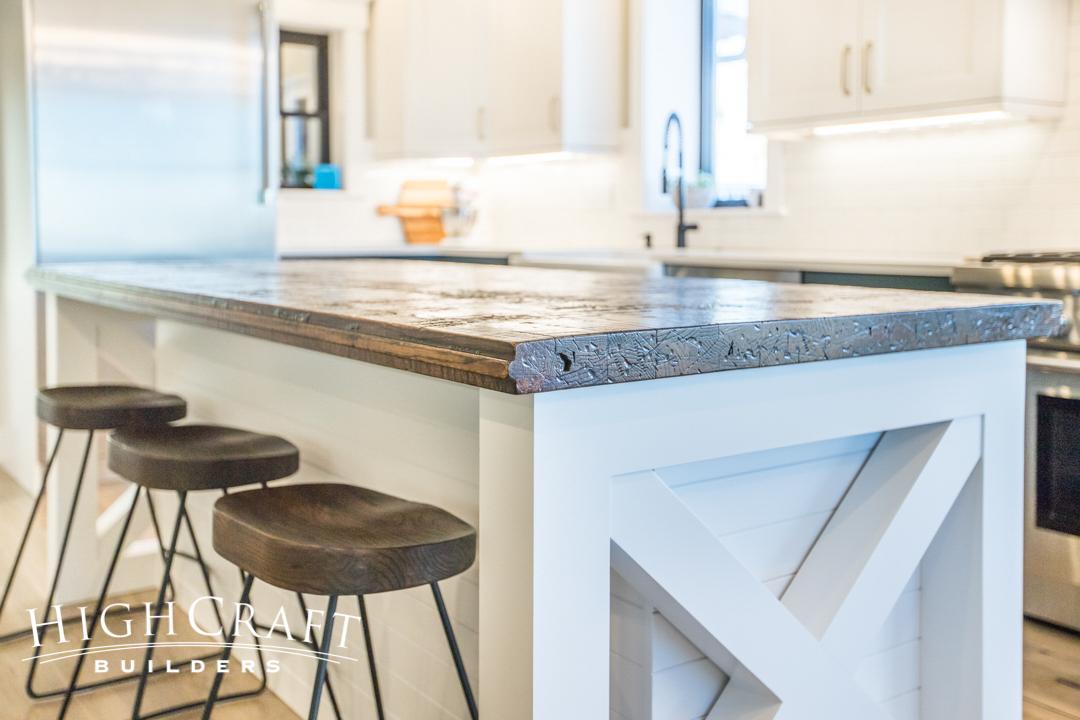 White Kitchen Island Bar Stool Closeup Highcraft