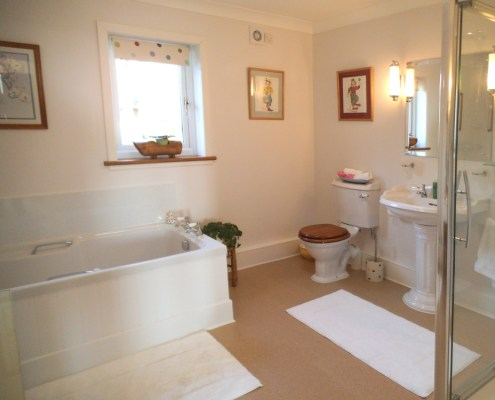 Ensuite in bed and breakfast