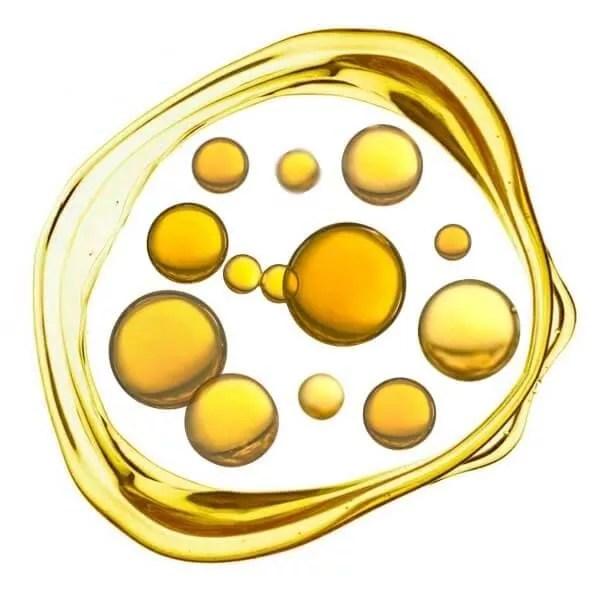 goldene-kugeln-in-oelkreis-highdroxy-wirkstoff-lipide-ceramide
