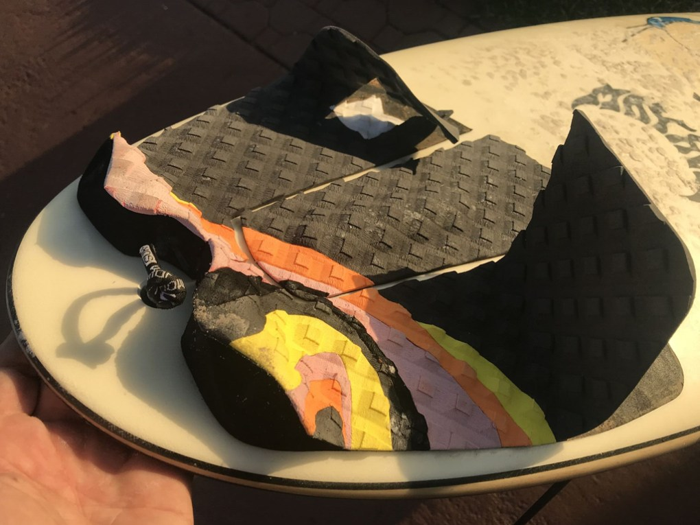 Surfboard Traction Pad Removal - When its Time for a New Pad