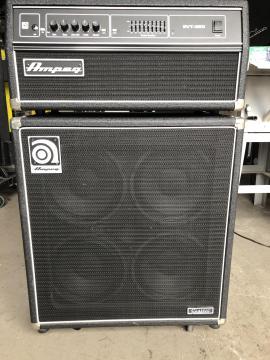 Backline Ampeg SVT-350 met SVT-410HE speakercabinet