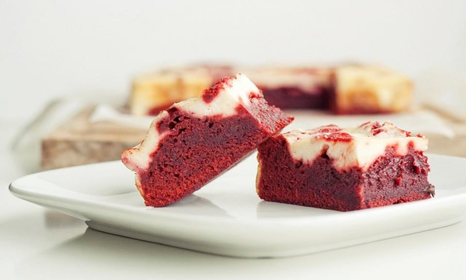 Cannabis Red Velvet Bars with Cream Cheese Icing