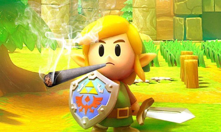 Smoking Weed and Games – Mandarin Cookies Strain and Legend of Zelda: Link's Awakening NSW