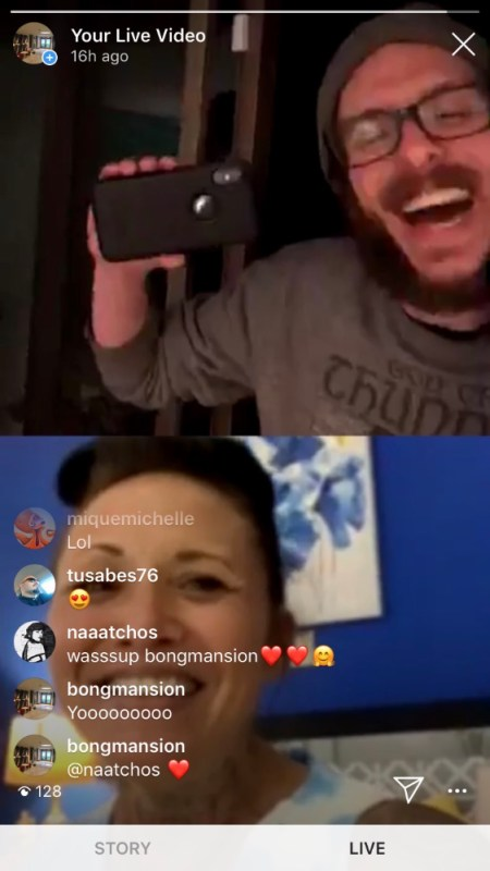 Mama Troy and Jake on Bong Mansion Live Stream