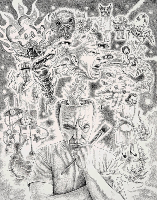 """The Next One (Self Portrait Thinking)"" by Sean Madden"