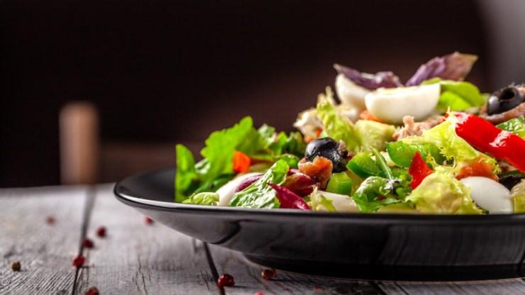 Cannabis oil salad
