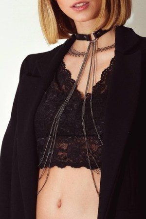 Chocker Body Chain Preto