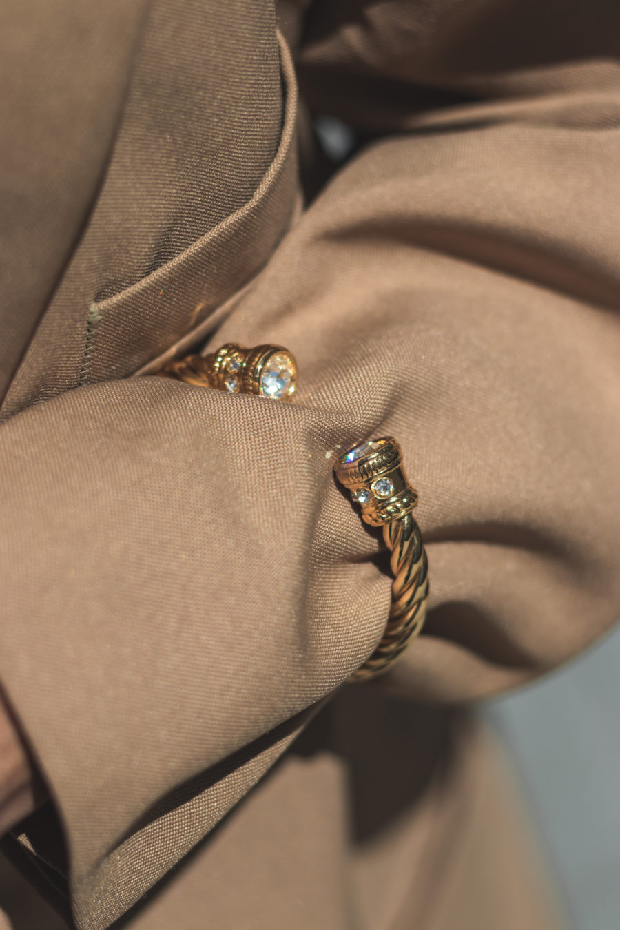 Bracelete Twist Shine Gold