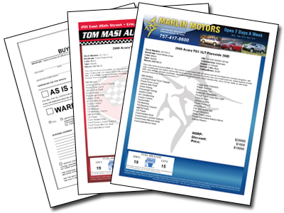 Window Stickers For Used Cars Custom Labels And Ftc Buyers Guides