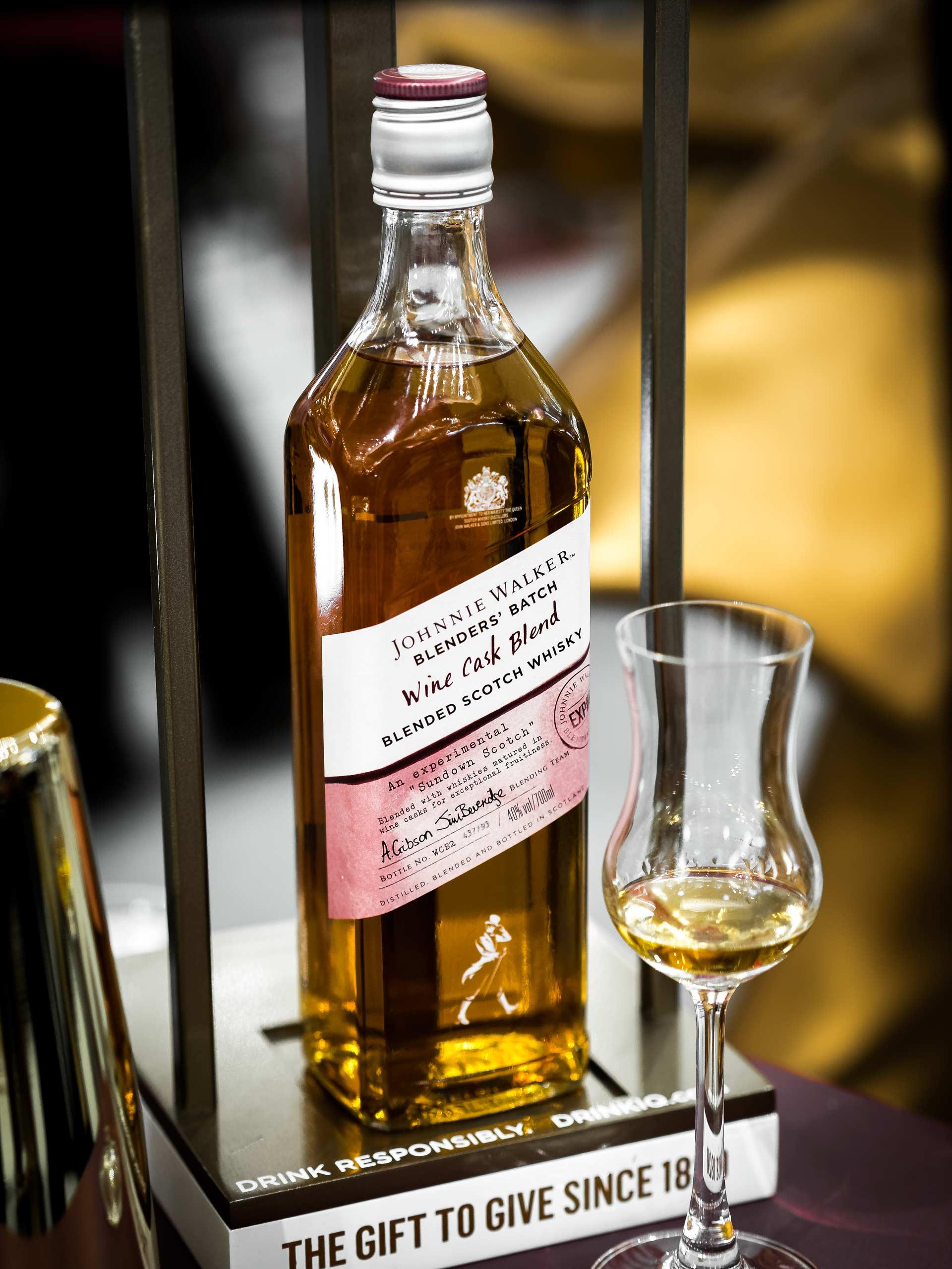 Johnnie Walker Blenders Batch Wine Cask Blend Review Highest Spirits