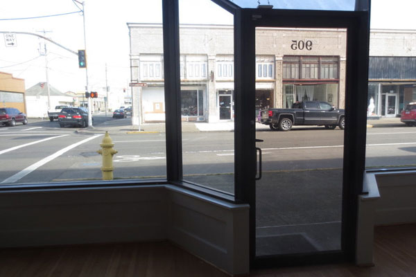 915 Commercial St- Front Window