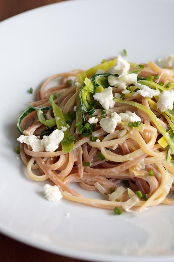 Spaghetti Maillard mit Lauchsauce