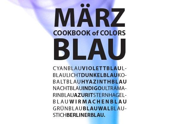 CookBook of Colors: Im März machen wir blau!