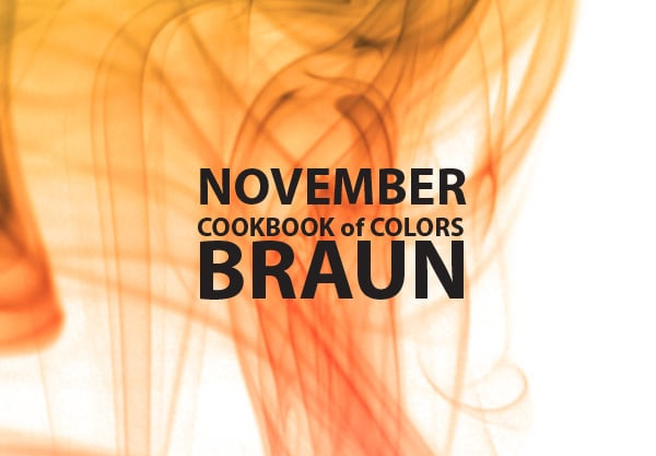 Cookbook of Colors: braune Rezepte für den November